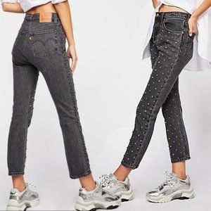 🆕 Free People x Levi's Crop Crystal Jeans
